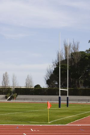 Detail of a rugby stadium photo