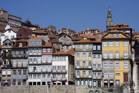 View of the old part of the oporto city - Portugal photo