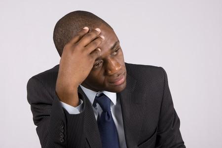 decepcionado: Hombre de negocios guapo con una expresi�n deprimida  Foto de archivo