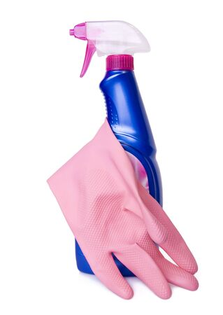 Gloves and house cleaning product Stock Photo - 10930674
