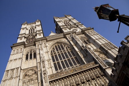 Facade of the Westminster Abbey in London photo