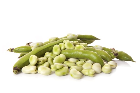 broad: Close-up of broad beans and few pods