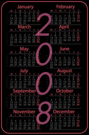 pink calendar  Stock Photo