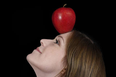 The teen with the apple