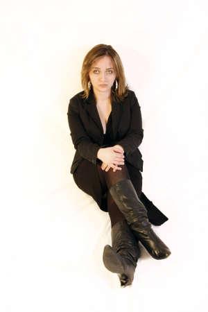 sad woman sitting
