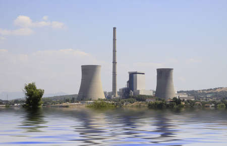 generating station: french nuclear power plant