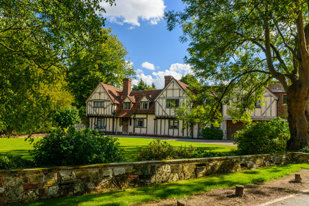 tudor: Tudor home in a vilage in Essex, UK with trees around it