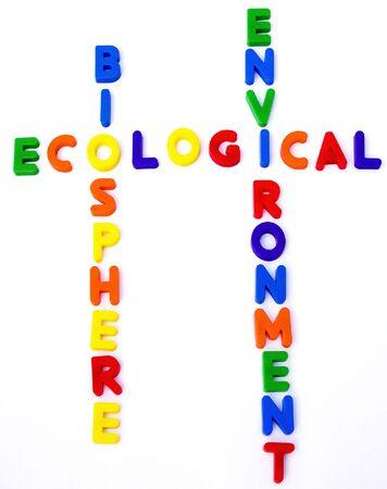 crucigrama ecológico  Foto de archivo - 6178060