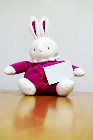 rabit: Pink rabit with empty card and great colors