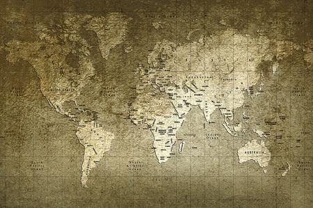 mapa de africa: Mapa de viejo mundo con gran textura y colores incre�bles