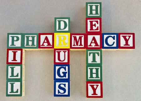A set of words related to the term pharmacy Stock Photo - 9259109