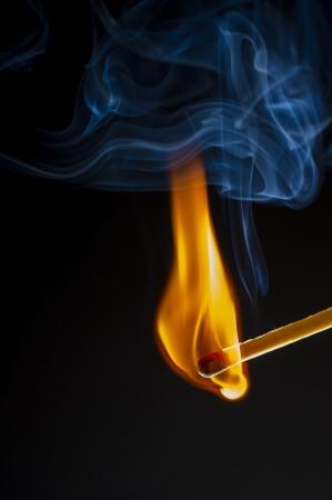 phosphorus: Phosphorus flame with smoke and amazing colors Stock Photo