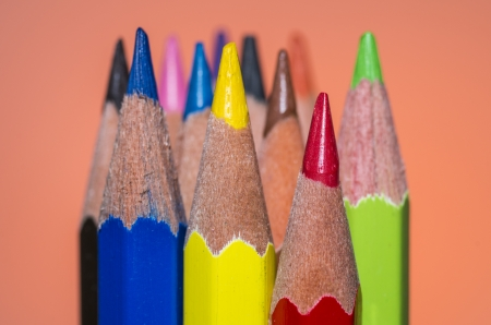 Color pencil in great color background photo