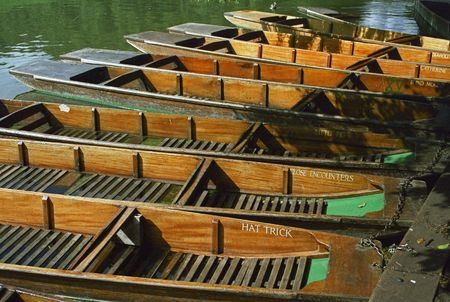 punt: Punts for hire on the river Cam