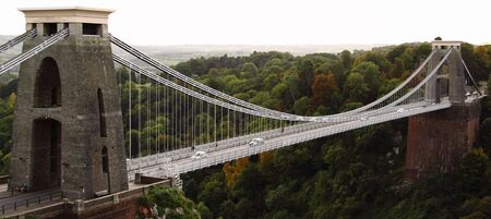 suspension bridge: The Suspension Bridge over the Avon Gorge seen from Clifton