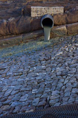 effusion: Soil drain Stock Photo