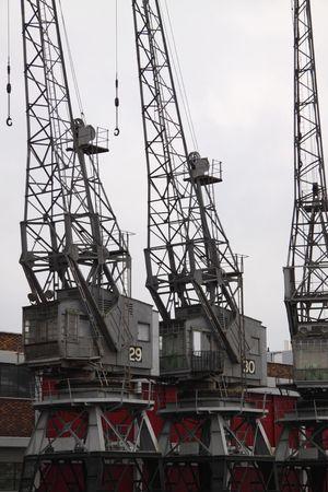 Vintage dock cranes photo