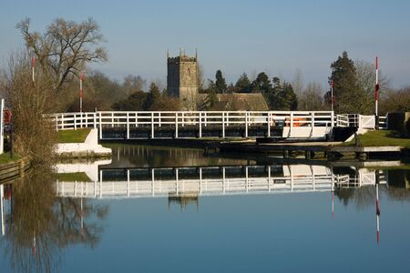 sharpness: Winters Day on the Gloucester and Sharpness Canal at Splatt Bridge