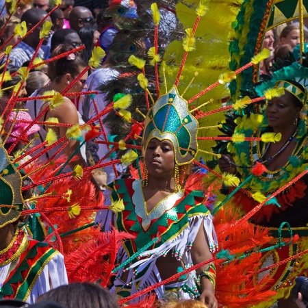 "attended: Bristol, England - July 3, 2010 - Participant and crowd at the annual St Pauls ""Afrikan-Caribbean"" carnival. A record 70,000 people attended the 42nd running of the community event Editorial"