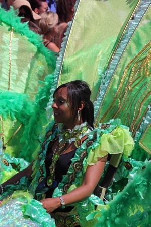 attended: Bristol, Inglaterra - 3 de julio de 2010 - participante en el carnaval anual de St Pauls Afrikan y el Caribe. Una registro de 70.000 personas asistieron a la marcha 42 del evento de la comunidad