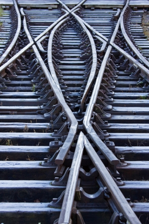 railroad track: Frosted Railway Lines Stock Photo