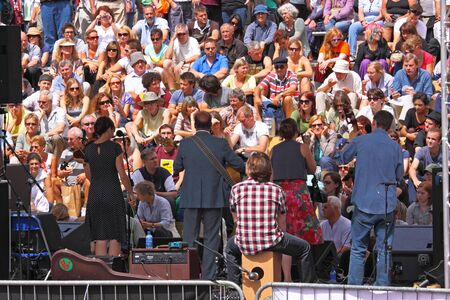 Bristol, UK - August 1, 2010 - Band on stage at the annual free Harbour Festival, attended by 250,000 people over three days