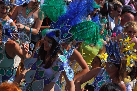 rio: Bristol, UK - July 3, 2010 - Participants and spectators at the annual St Pauls carnival . A record 70,000 people attended the 42nd running of the street festival.