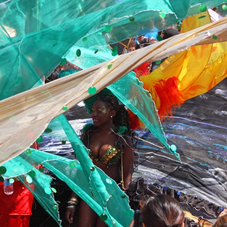 Bristol, UK - July 3, 2010 - Participant in the annual St Pauls carnival . A record 70,000 people attended the 42nd running of the street festival.