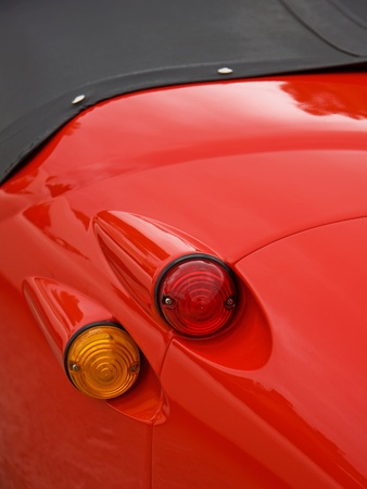 coupe: Brake and indicator lights on a classic coupe