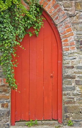 Doorway to a secluded walled garden photo