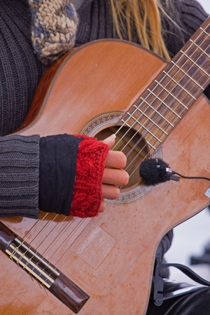 Detail of street musician playing guitar Stock Photo - 9732844