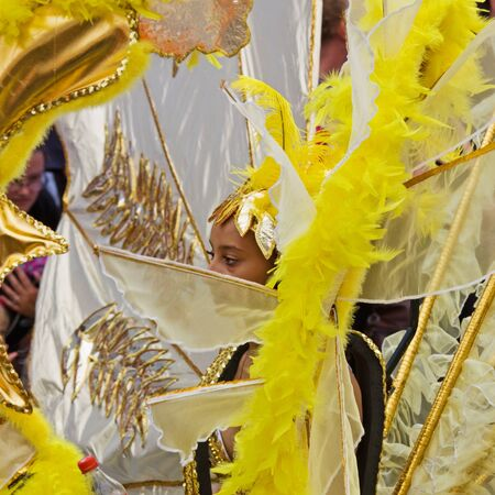 """Bristol, England - July 2, 2011 - Participant in the annual St Pauls """"Afrikan-Caribbean"""" carnival. A record crowd of 80,000 attended the event Stock Photo - 9890736"""