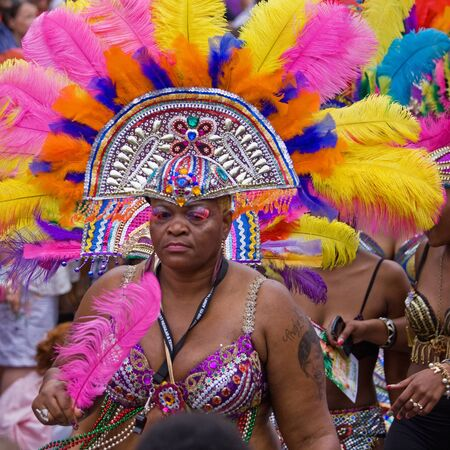 "Bristol, England - July 2, 2011 - Participant in the annual St Pauls ""Afrikan-Caribbean"" carnival. A record crowd of 80,000 attended the event"