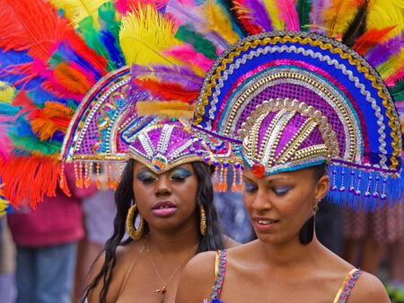 """Bristol, England - July 2, 2011 - Participants in the annual St Pauls """"Afrikan-Caribbean"""" carnival. A record crowd of 80,000 attended the event"""