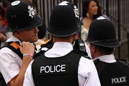 "constabulary: Bristol, England - July 2, 2011 - Police presence at the annual St Pauls ""Afrikan-Caribbean"" carnival. A record crowd of 80,000 attended the street event Editorial"