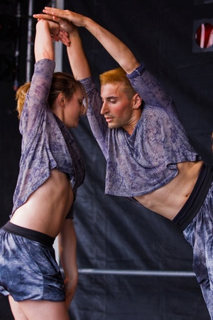 Bristol, England - July 30, 2011 - Members of the Tavaziva dancers at the 40th annual Harbour Festival attended by an estimated 280,000 people