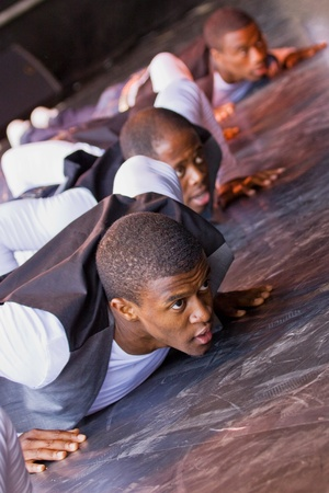 Bristol, England - July 31, 2011 - The Cerebro dance troop perform at the 40th annual Harbour Festival attended by an estimated 280,000 people