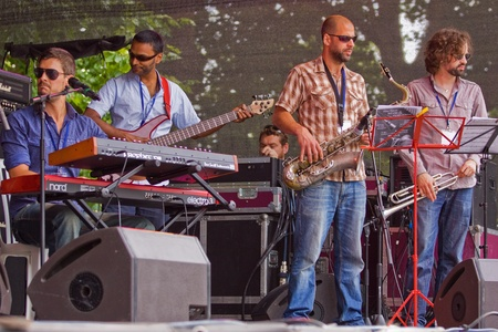 gig harbor: Bristol, England - July 31, 2011 - The Pete Josef band performing at the 40th annual Harbour Festival, attended by an estimated 280,000 people