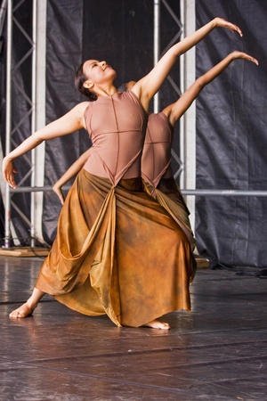 Bristol, England - July 30, 2011 - Classical Indian dance performed by Atma at the Harbour Festival attended by 280,000 people
