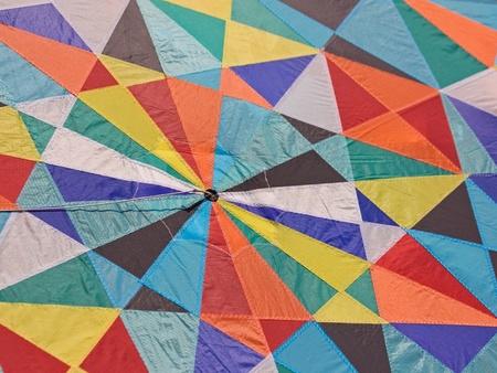 kaleidoscopic: Kite mosaic Stock Photo