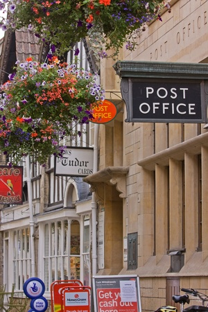 telegraphy: Bradford-on-Avon, England - August 31, 2011 : The Post Office in the old Shambles area of the town Editorial