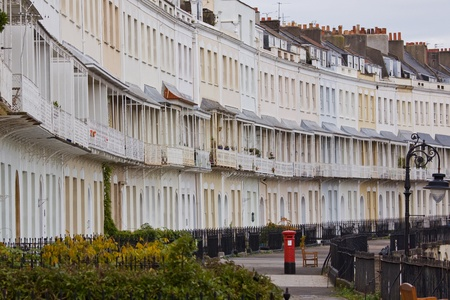 Georgian Royal York Crescent in Clifton, Bristol UK