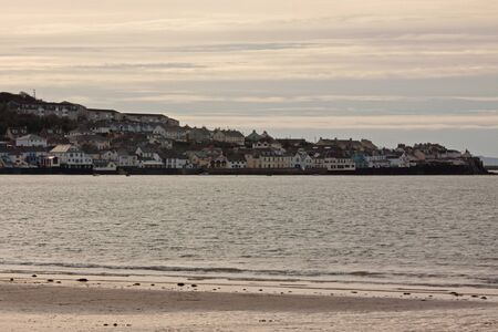 Dusk on the River Torridge overlooking the picturesque village of Appledore in Devon UK photo