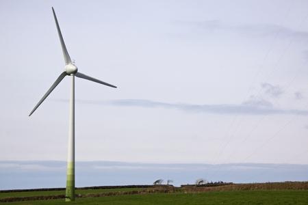 Cornish Farmland with Wind Turbine UK Stock Photo - 13299009