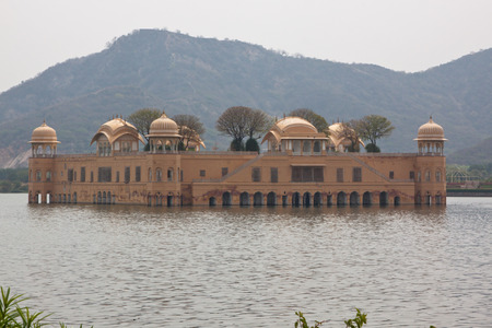 palatial: The eighteenth century Jal Mahal water palace on the Man Sagar lake in Rajasthan, India  Editorial