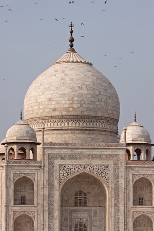 central chamber: Deatail of the central dome of the Taj Mahal Stock Photo