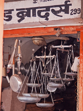 Scales in an Indian bazaar