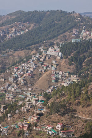 citizenry: Housing on a hillside in the foothills of the Himalayas