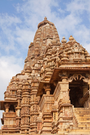 The Lakshmana temple at Khajuraho India part of the Hindu complex built by the Chandela dynasty 1000 years ago