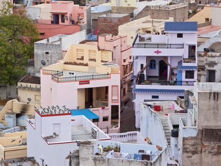 urban housing: Modern Indian urban housing in the town of Deogarh Rajasthan
